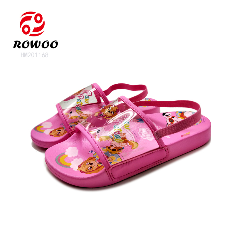 durable sole comforty light sandal elastic cute baby girls kids slippers