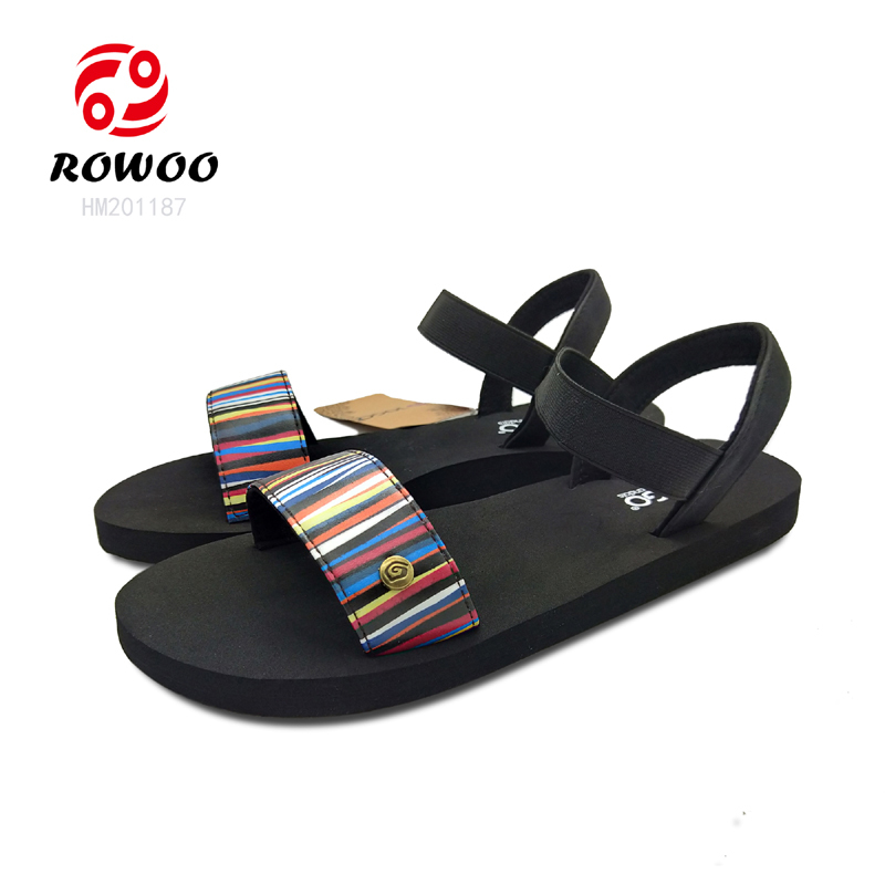 Promotion hotesale rubber luxury new Fashion outdoor sport sandal for girls ladies