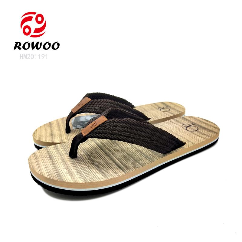 new design fashion soft strap slipper comfortable sandal gents flipflop